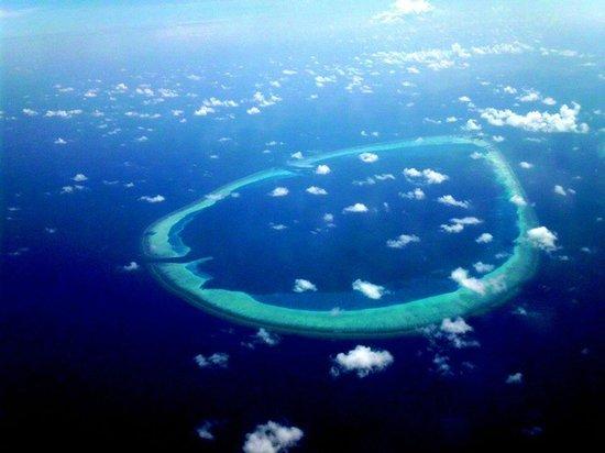 Kuredu Island Resort & Spa : les atols vu de l avion