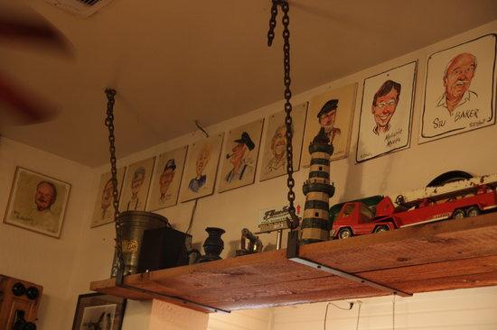 T-Bone Tom's Meat Market: Interior wall