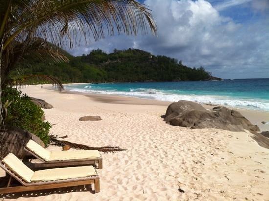 Banyan Tree Seychelles: plage intendance de l'hôtel