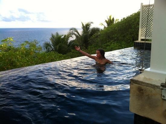 Takamaka, Seychelles: vue de la piscine de notre villa