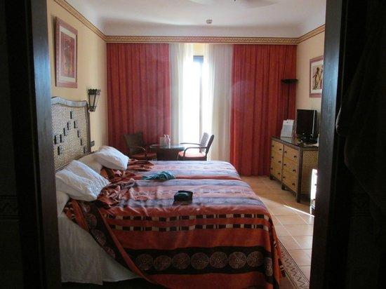 Hotel Riu Touareg: view from bathroom area