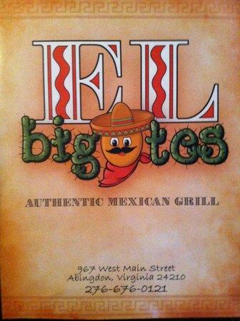 El bigotes Mexican grill: menu cover