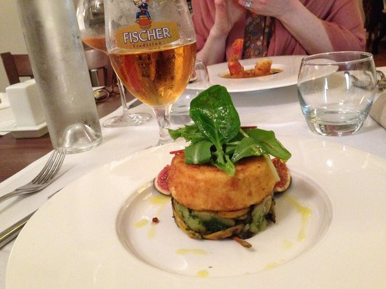 Restaurant La Fontaine: The fried goat cheese!