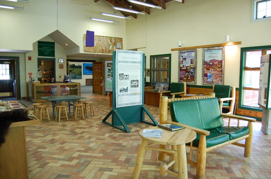 Adirondack Interpretive Center: Exhibits and Displays in the center
