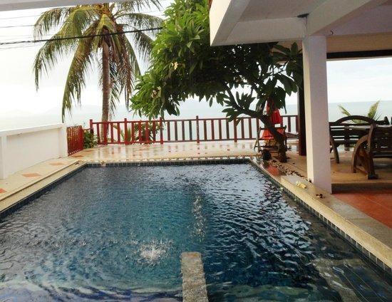Florist Resort: Наш бассейн под дождём