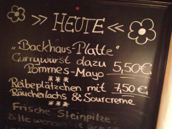 Altes Backhaus: prima Speisen