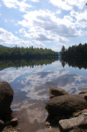 Newcomb, NY: Our trails offer excellent views of beautiful Rich Lake
