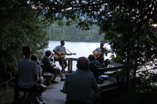 Adirondack Interpretive Center: The AIC offers public programming such as Music in the Woods (July 2013)
