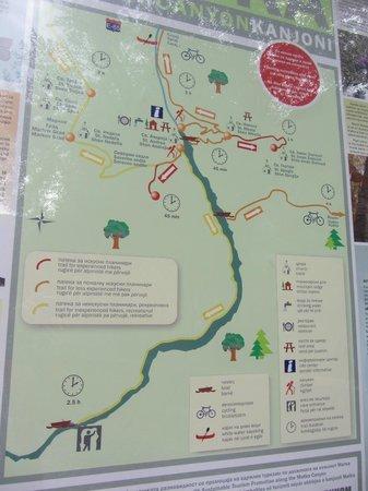 Hotel & Restaurant Canyon Matka: карта каньона