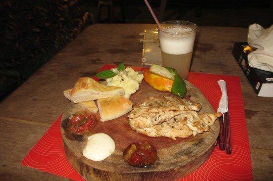 Maresia-Atins: Uma das refeições que fiz no local