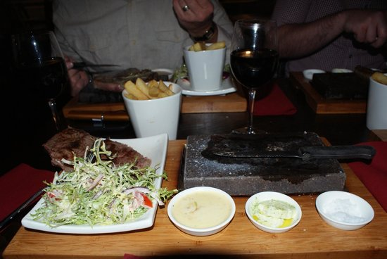 "Prime: Tasty steak served on a ""hot rock"""