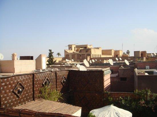 Riad Dar Najat: vista desde el altillo de la terraza