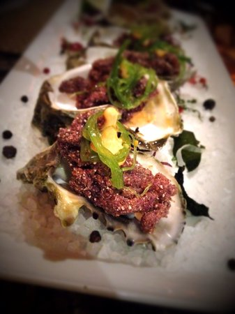Bistro Napa: Crusted oysters