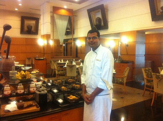 Trident, Cochin : Chef who is cooking good food as he looks !