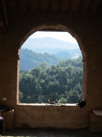 Castello di Potentino: View from the cloister