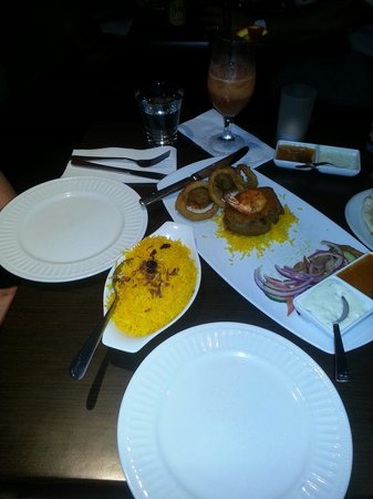 Goa Indian Fusion: dinner arrived