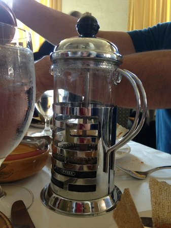 Mistral: tea in a french press