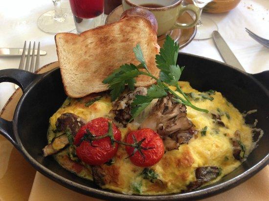 Mistral: gruyere and mushroom fritatta
