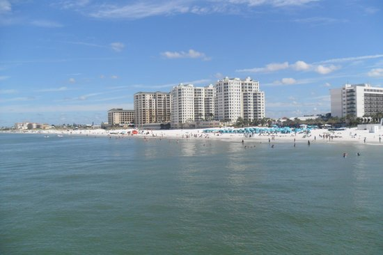 Tropical Sky Ranch Motel: view from pier 60 of clearwater beach