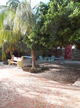 Rancho El Sobrino Curacao: Innenhof