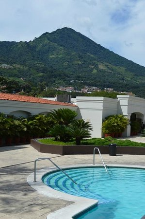 Plaza Hotel & Suites: A view from the hotel's grounds that it shares with the Crowne Plaza