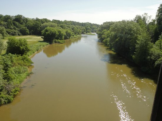 Waterloo Central Railway: Conestoga River seen from the train