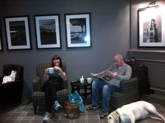 Village Hotel Blackpool: Chilling with Starbucks Coffee after Spa