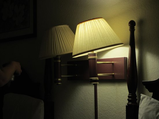 Super 8 Aurora/Naperville Area: all lampshades looked like this