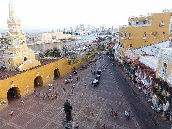NH Cartagena Urban Royal: Vista desde el balcón de la habitación