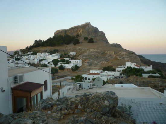 Lindos castle, on the way to acropolis. - Picture of ...