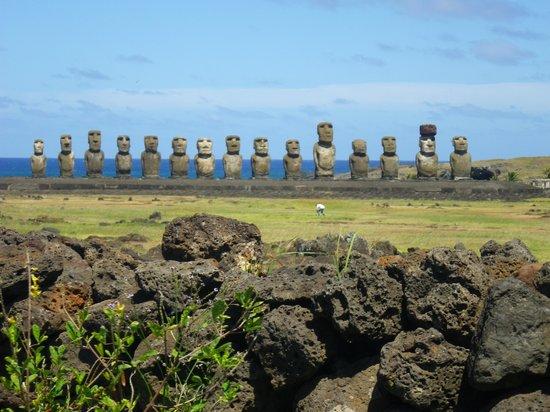 Cabanas Tokerau: Ahu Tongariki, los 15 Moais