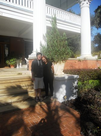 Herlong Mansion Bed and Breakfast Inn: Me with my partner Jason, Herlong Mansion, 2013