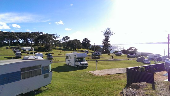 Mersey Bluff Caravan Park: Our park on a quiet weekend!!