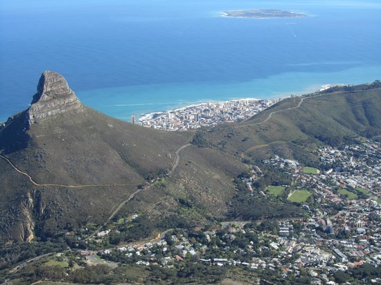 The Cape Cadogan: View from table mountain
