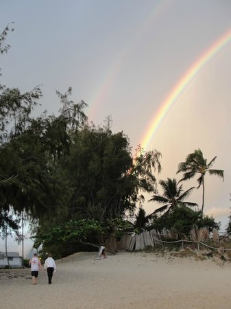The Hula Breeze: sunrise at beach - double rainbow