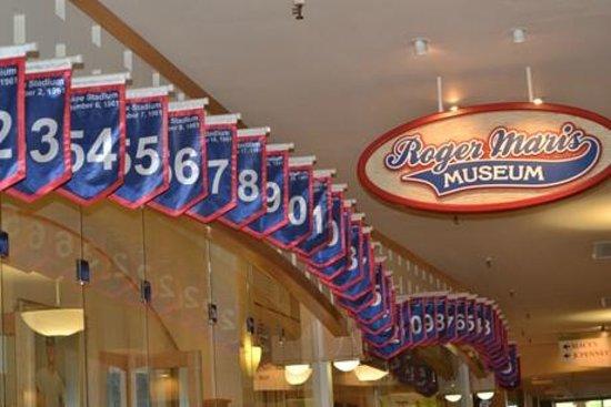 Roger Maris Museum: Flags recording each of Maris' 1961 home runs