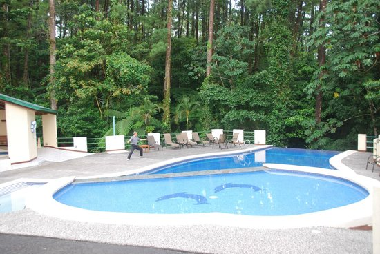 Arenal Observatory Lodge & Spa: Gorgeous swimming pool with shaded hot tub