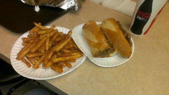 Ioannoni's Bullroasters : Roast beef with sharp provolone and gravy, and old bay fries.  Very enjoyable and a pleasant cha