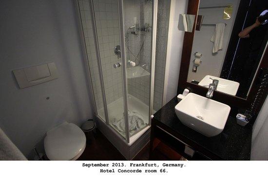 Hotel Concorde: Room 66 bath.