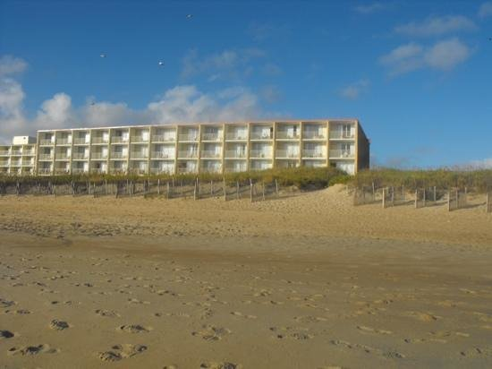 Comfort Inn On The Ocean: ocean front rooms at our hotel from the beach