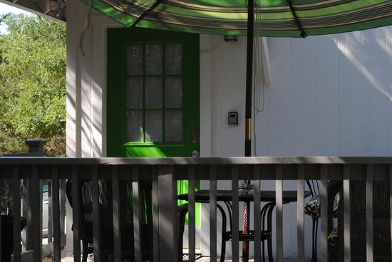 Cypress Creek Cottages: Green Cottage Door/Deck