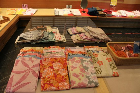 Shiraishiya: 浴衣を選べます