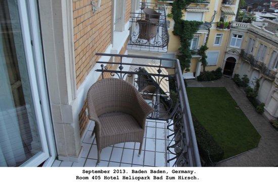 Heliopark Bad Hotel zum Hirsch : Balcony on 405.