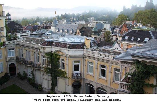 Heliopark Bad Hotel zum Hirsch : View from room 405 balcony.