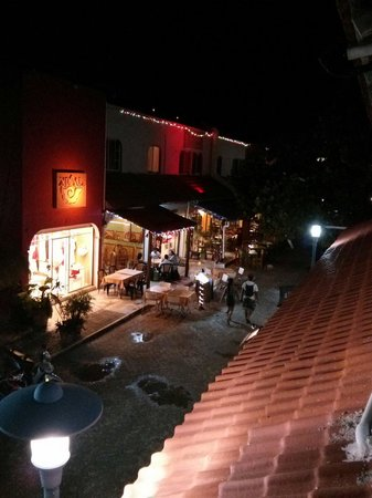 Hotel Plaza Almendros: View from balcony over hidgalo street