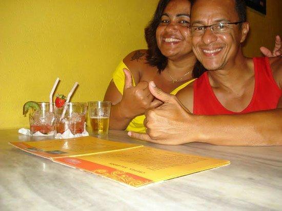 Pousada do Tio Zé : Curtindo os deliciosos drinks.