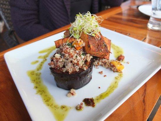 Posana: ChiliTofu-Eggplant brunch dish