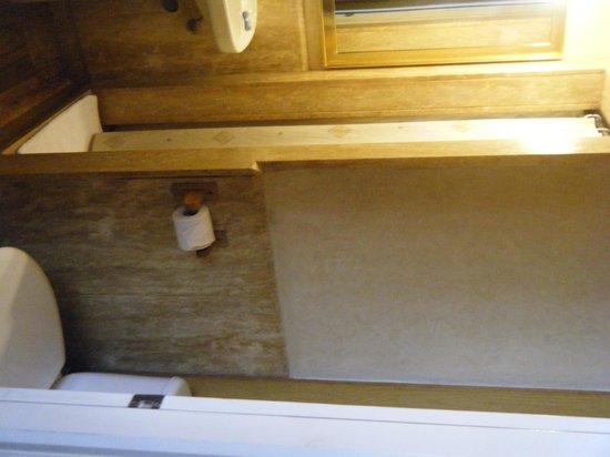 Hotel les Saisons: The bath-shoebox