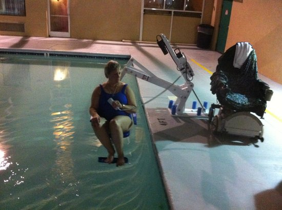 Sleep Inn & Suites: First ever use of this pool lift!
