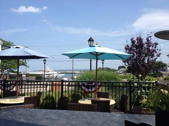 Annau0027s Harborside Grille: View Of The Harbor And The Mayflower